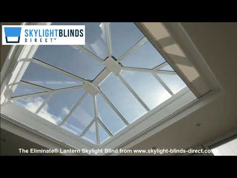 Electric Skylight Lantern Window Blinds