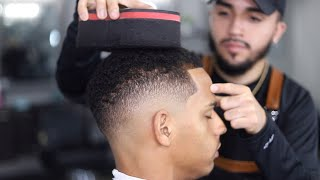 FUNDAMENTALS of a Fade with Curly Sponge!