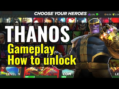 THANOS Gameplay + How to unlock fast! Marvel ultimate Alliance 3