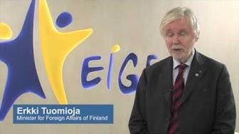 EIGE White Ribbon Campaign - Minister Erkki Tuomioja statement