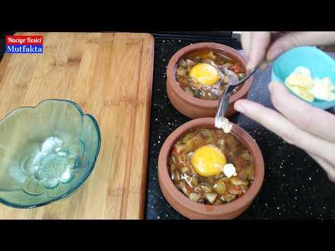 Güveçte Mantarlı Yumurta - Naciye Kesici - Kahvaltılık Tarifler