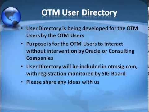 OTM SIG EMEA/APAC Call March 2012