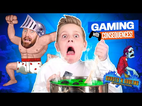 Loser EATS Goblin Stew! Ghosts 'n Goblins Resurrection GAMING with CONSEQUENCES!!! K-CITY GAMING |