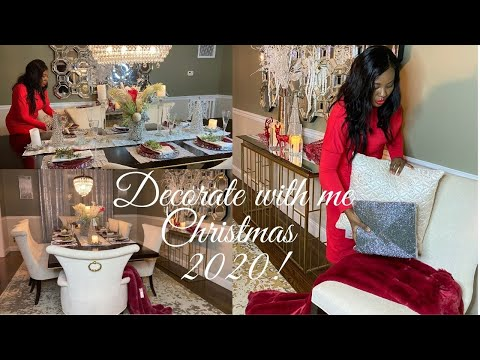 Early CHRISTMAS 2020 GLAM DECOR !   How To Decorate A Glam Dining Room For Christmas!