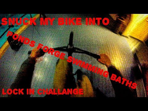 *24h challange* snuck my bike into ponds forge swimming baths.. rode off the diving boards (success)