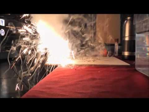 The RAF Cosford Titanium sparkler