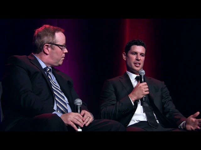 Sidney Crosby has been voted Nova Scotia's top athlete of all time, on a list by the province's Sport Hall of Fame. In Halifax on Thursday, the Pittsburgh Penguins captain was asked about living in team owner Mario Lemieux's house.