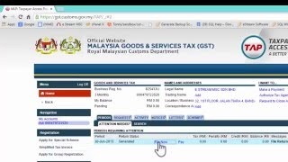 gst 03 form submission sql accounting software