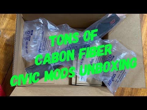 Civic Carbon Fiber Dash Mods Unboxing