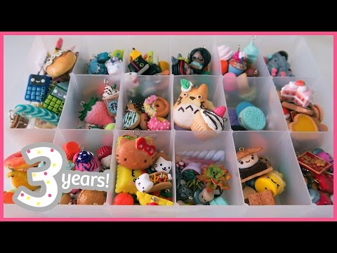 Polymer Clay Charm Collection 2015 || 3 yrs on YT!