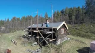 Restaurering av tak på Seterstue