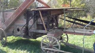Working 19th century Westinghouse Threshing machine, made in Schenectady, NY