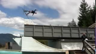 Фристайл, водный трамплин, прыжки в Канаде    Water ramp Canada Whistler