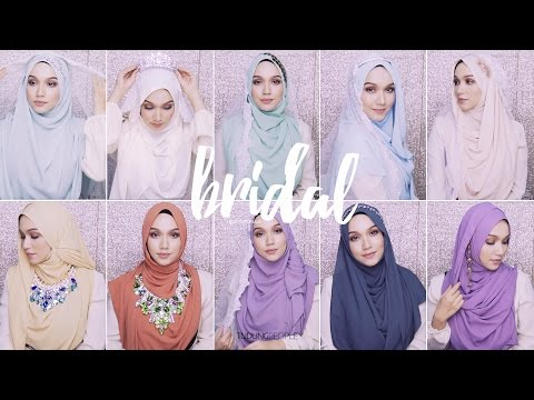 11 Different Styles For Hijabi Bride!