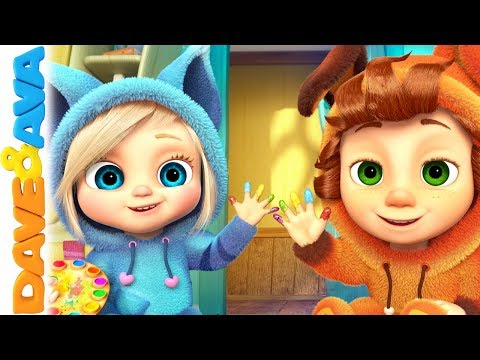 🎨 Learn Colors with Dave and Ava  Nursery Rhymes and Kids Songs 🎨
