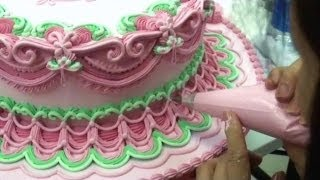Cake Decorating Techniques - Wedding Cakes - How To Pipe Royal Icing Demonstrations / Ideas