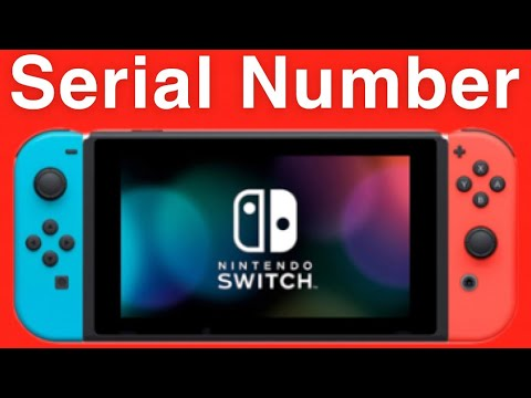 Nintendo Switch How To Find Your Serial Number!
