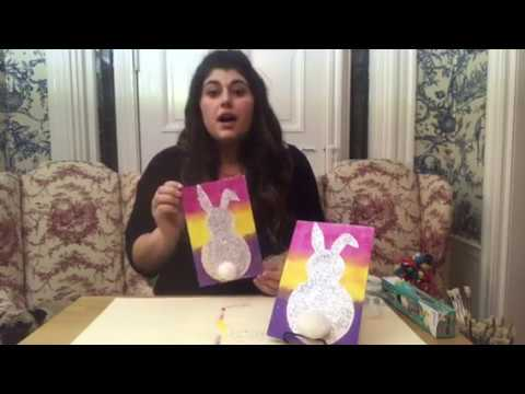 DIY Glitter Easter Bunny Craft Video - DIY Crafts by EconoCrafts