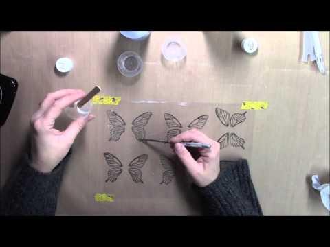Resin Transfer Embellishment tutorial using Amazing Clear Cast