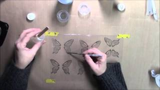 Resin Transfer Embellishment tutorial using Amazing Clear Cast