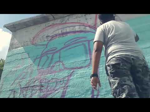 Painting Two graffiti character in one video