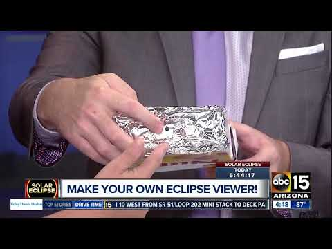 Make your own solar eclipse viewer