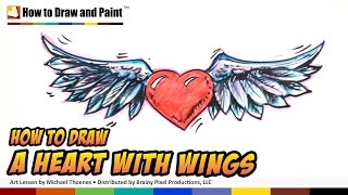 How to Draw a Heart with Wings - Art for Kids | MAT