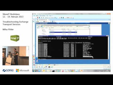 ShowIT 2013: Troubleshooting Exchange Transport Services (Miha Pihler)