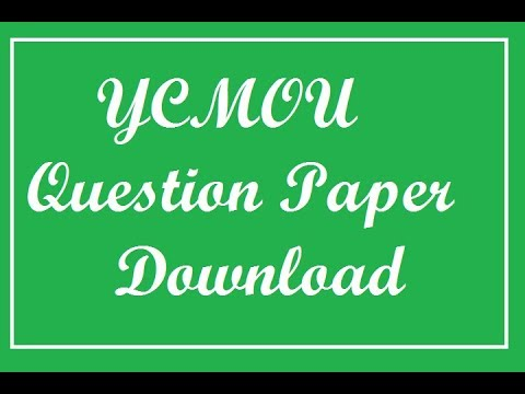 YCMOU old question papers download
