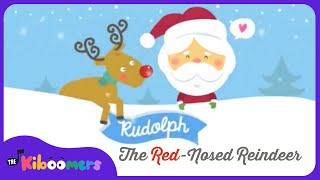 Rudolph The Red Nosed Reindeer Song | Christmas Songs for Kids | The Kiboomers