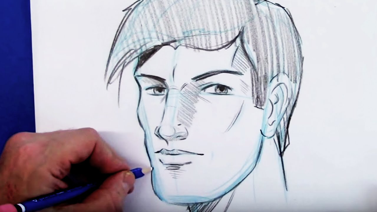 Contour Line Drawing Face : How to draw the head step by youtube