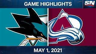 NHL Game Highlights | Sharks vs. Avalanche – May 1, 2021
