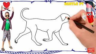 HOW TO DRAW DOG AND DUCK [bé vẽ con chó và vịt]   POLI DRAWING   DANYLE PY