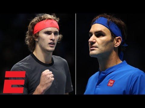 Alexander Zverev beats Roger Federer in semis at ATP Finals | Tennis Highlights