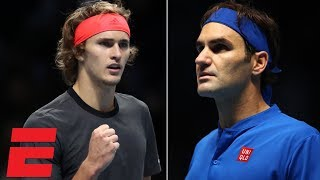 Alexander Zverev beats Roger Federer in semis at ATP Finals | Tennis Highlights thumbnail