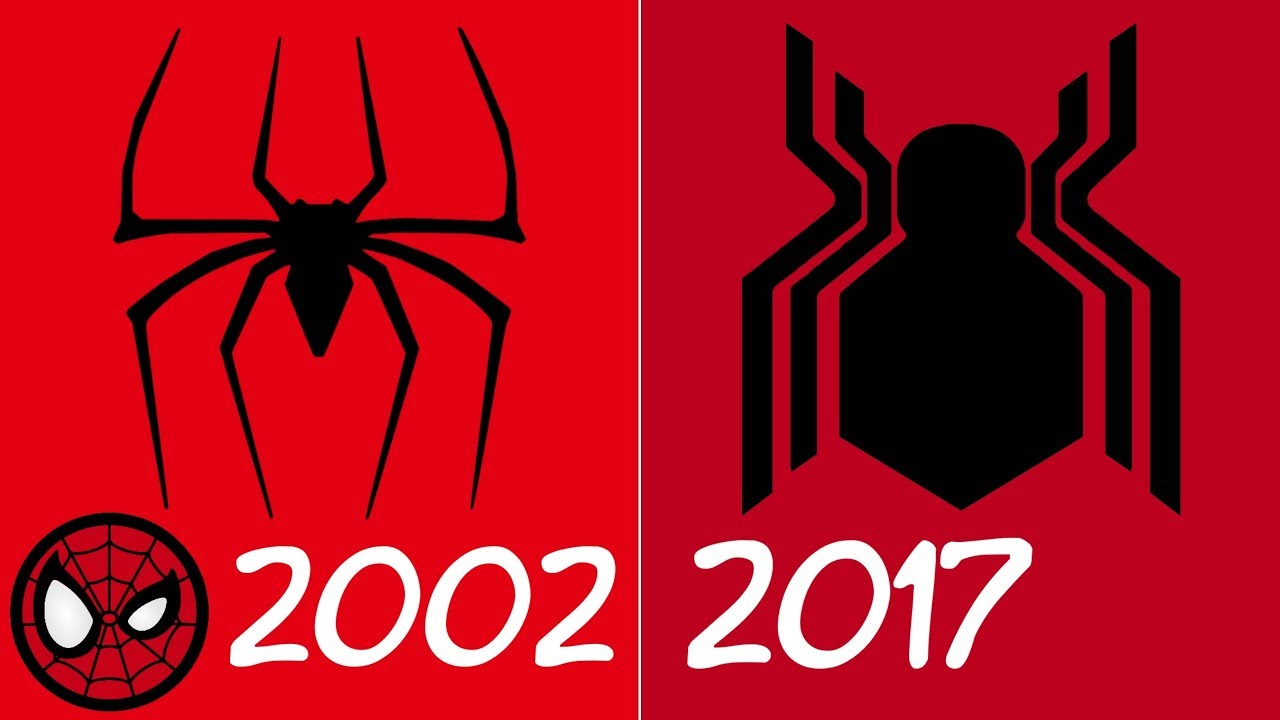 Evolution Of Spider Man Spider Symbols In Movies 2002 2017 Youtube