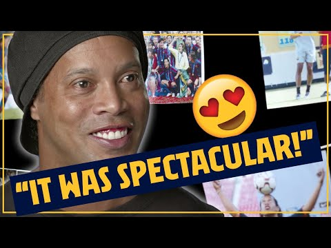 🤯 RONALDINHO relives his HISTORY MAKING debut!!! 🔥