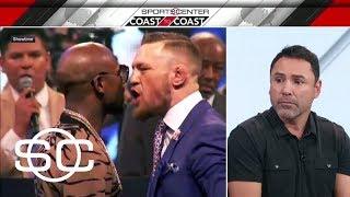Oscar De La Hoya expects Mayweather to outbox McGregor in 12 rounds | SportsCenter | ESPN