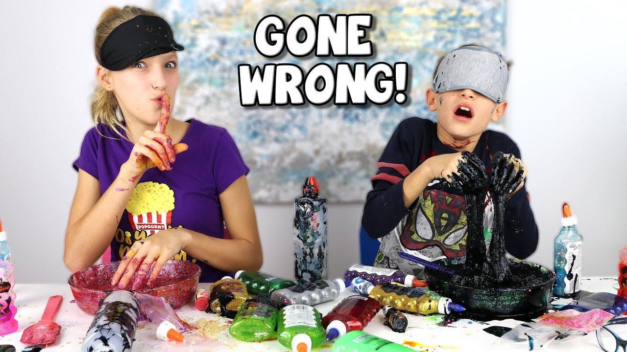 BLINDFOLDED SLIME PRANK CHALLENGE GONE WRONG!!!
