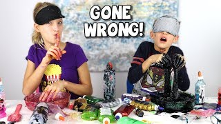 BLINDFOLDED SLIME PRANK CHALLENGE GONE WRONG!!! Video