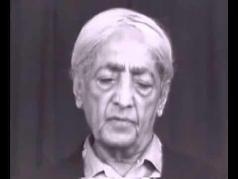 Krishnamurti - Isolation, Intelligence, Meditation (Talk 1/4)
