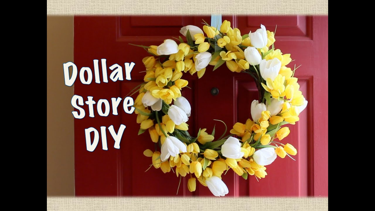 Spring Door Wreath Ideas Part - 50: DOLLAR STORE DECOR: Spring Wreath DIY - YouTube