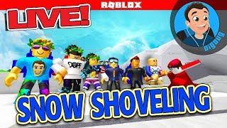 Komm Schaufel Schnee mit mir in Roblox Live! DigDugPlays Roblox Schneeschaufel simulator