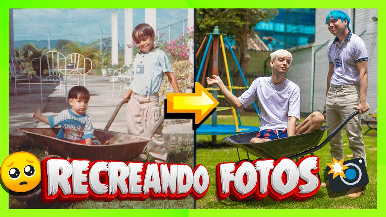 IMITANDO FOTOS DE NUESTRA INFANCIA - Yolo Aventuras