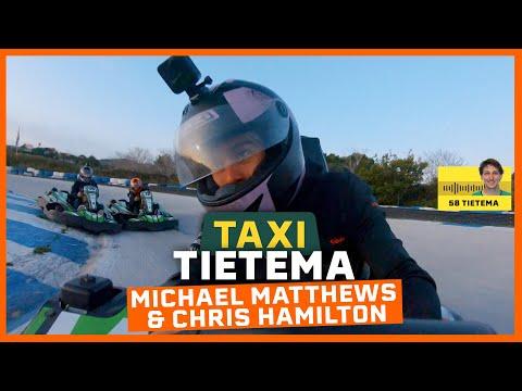 GO KART BATTLE MET HAMILTON EN MATTHEWS | TAXI TIETEMA
