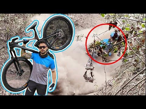 Compre una bicicleta de fibra de carbono y ME ROMPÍ LA MA🥴😂😂 - BERTH-OH