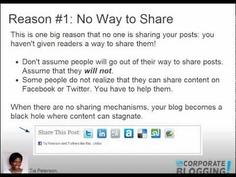 Tucson Social Media: Fix Your Corporate Blog: 3 Reasons No One is Sharing Your Posts
