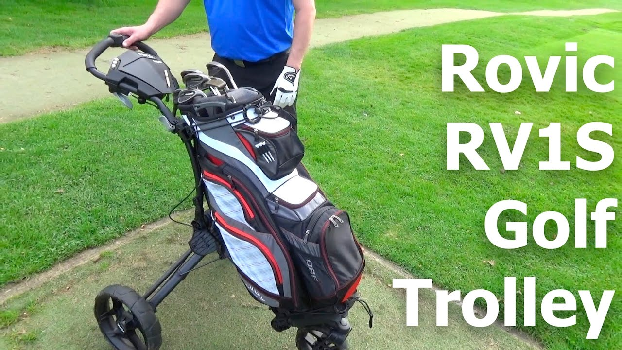 Rovic By Clicgear RV1S Swivel Golf Trolley | First Look - YouTube on