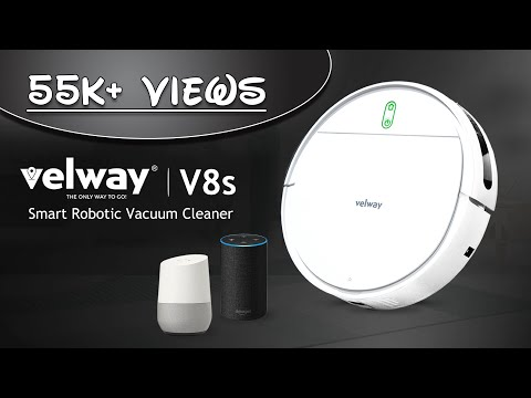 Smart robotic Vacuum Cleaner with WiFi Alexa and Google Connected