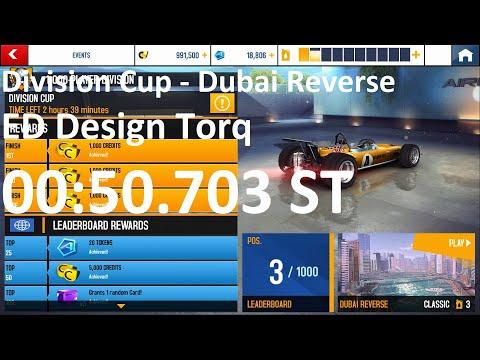 Asphalt 8 - Division Cup   Dubai Reverse   ED Design Torq 00:50.703 ST